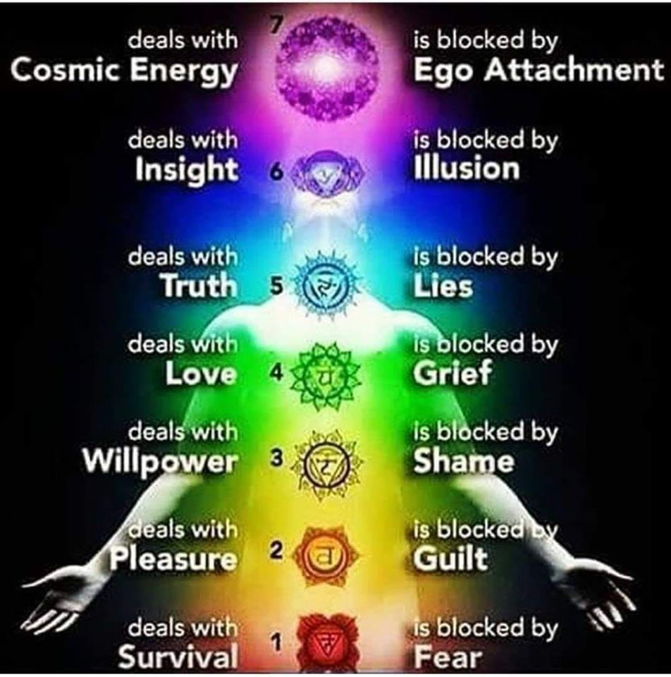 chakras and what blocks them
