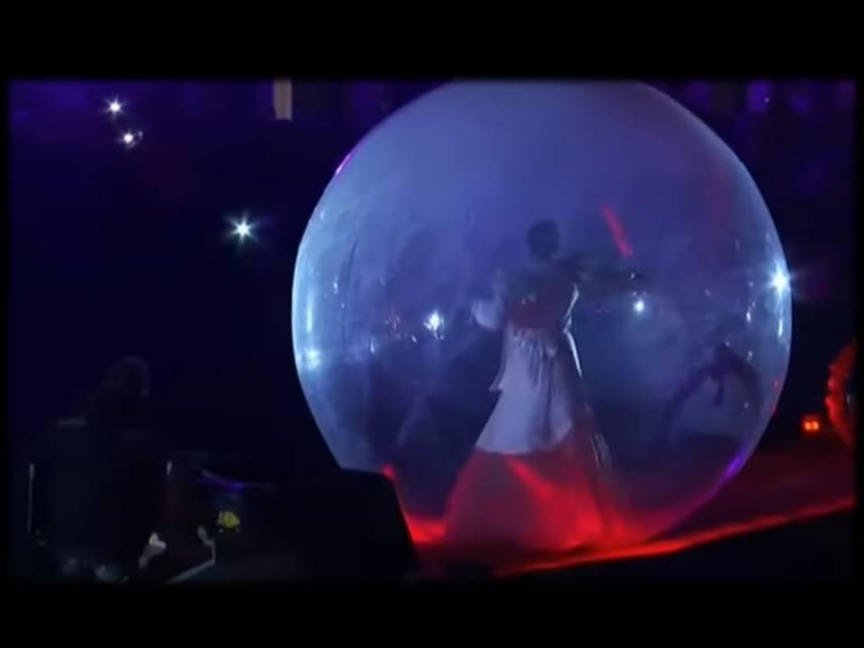 @man in bubble